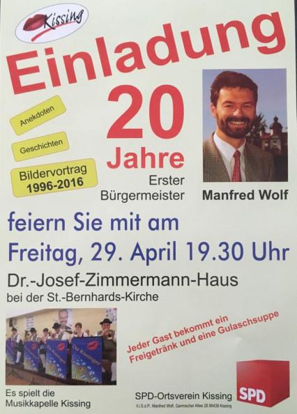 20 a Erster Bürgermeister Manfred Wolf in Kissing