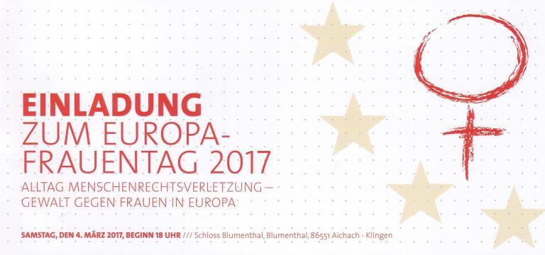 Einladung Frauen-Europatag 2017 durch Maria Noichl, MdEP
