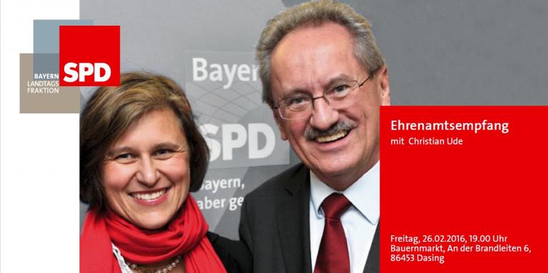 Fr., 26.02.2016: Ehrenamtsempfang für den Landkreis Aichach-Friedberg