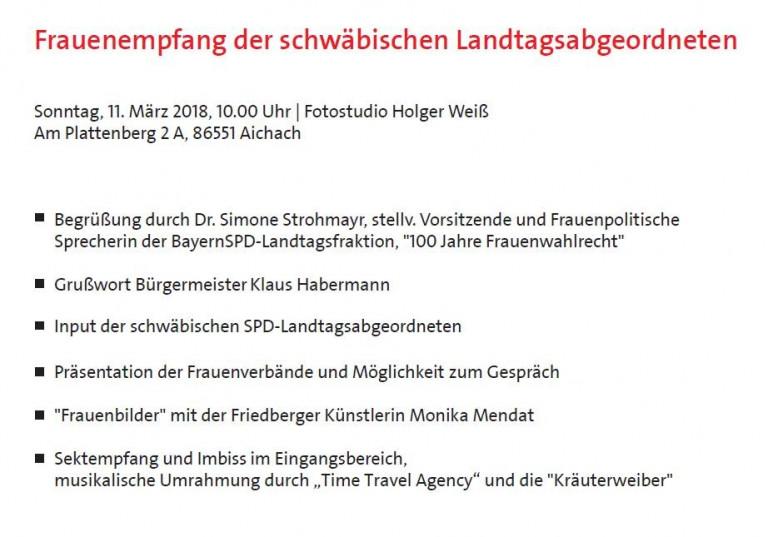 Frauenempfang der SPD-LTF 2